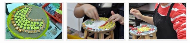 儿童创意美术~小凳上的烛光